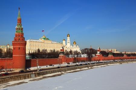 kremlin: Moskou, Gezicht op het Kremlin Stockfoto