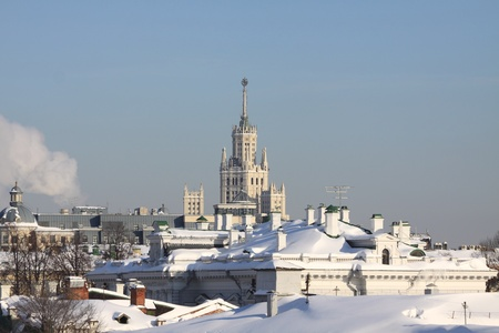 Frosty and clear day in Moscow