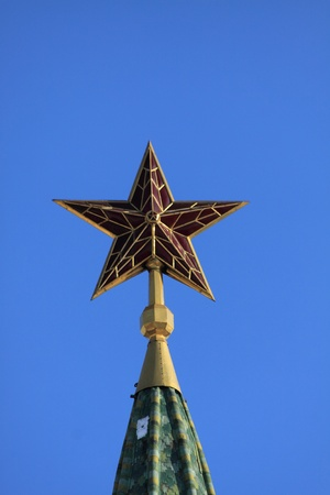The star which is situated on the top of Moscow Kremlins towers