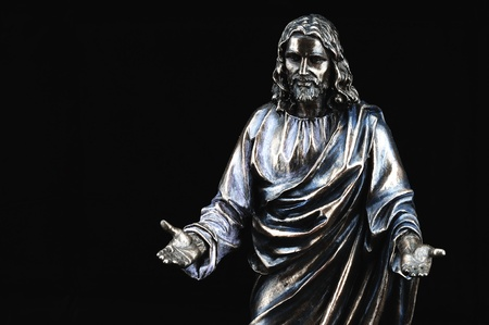 Statue of Jesus Christ with hands outstretched Stock Photo