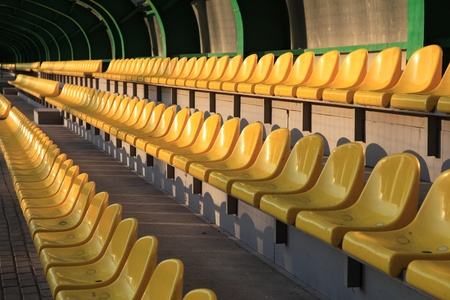 Sports. Empty tribunes wait for spectators