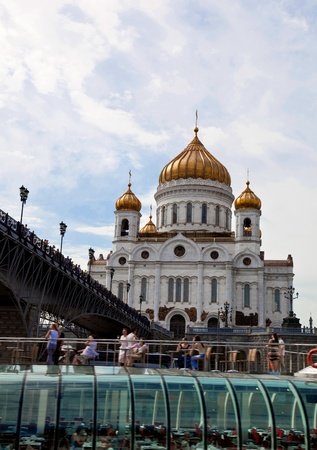 Christ the Savior Cathedral - the main cathedral of the Russian Orthodox Church in Moscow Stock Photo - 10086147
