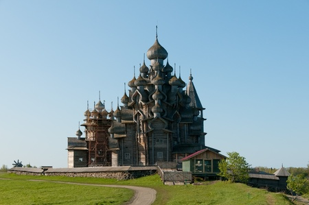 Beautiful Kizhi island on north of Russia photo