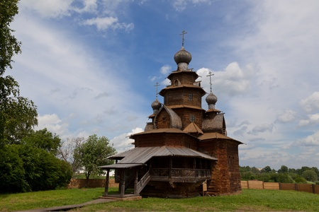 Old wooden church in Suzdal. Russia photo