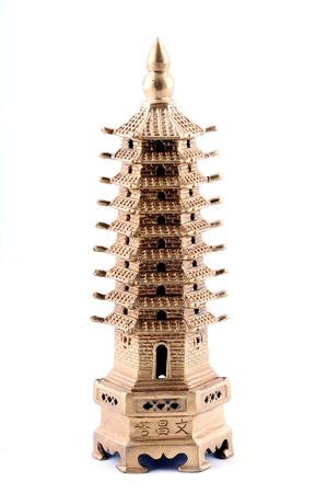 Feng Shui. Bronze pagoda photo