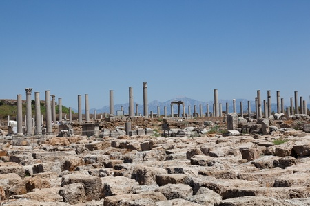 Ancient city of Perge near Antalya Turkey photo