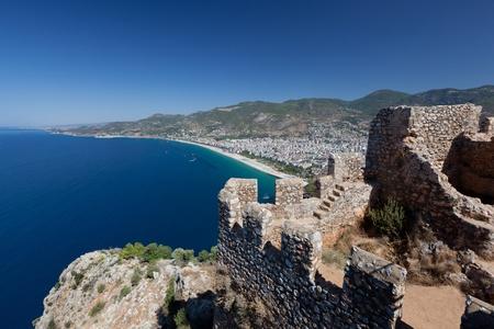 turkiye: Turkey. Ruins of Ottoman fortress in Alanya