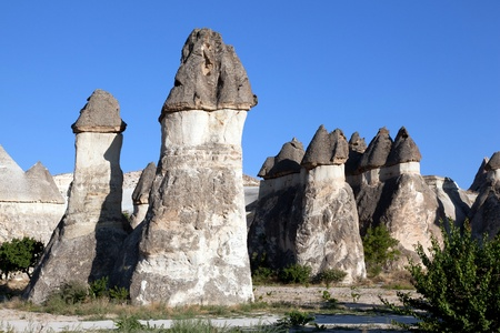 Famous Fairy Chimneys in Turkey. Uchisar