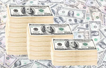 Finance. Roll of money of 100 dollars. photo