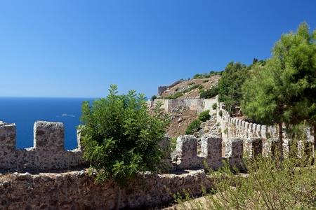 Turkey. Ruins of Ottoman fortress in Alanya Stock Photo - 11037586