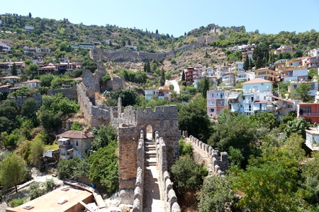 Turkey. Ruins of Ottoman fortress in Alanya photo