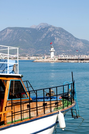 Turkey. View at the Alanya harbor