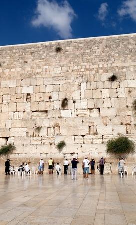 Gebet an der Klagemauer, Jerusalem, Israel Standard-Bild - 11149247