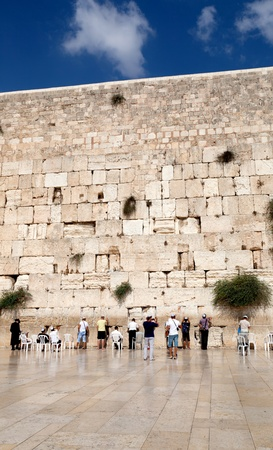the western wall: Prayer at the wailing wall, Jerusalem, Israel