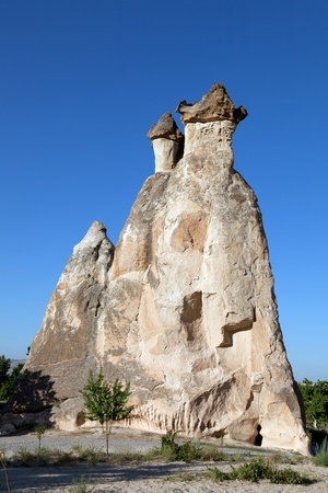Cappadocia. Fairy Chimneys in Turkey. Valley of friars of Pashabag Standard-Bild