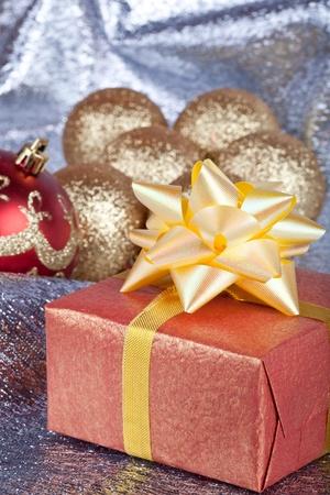 Christmas ball and gift box Stock Photo - 11271424