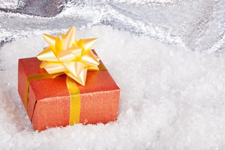 Christmas and New Year. Gift box Stock Photo - 11271388