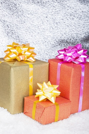 Christmas and New Year. Gift box Stock Photo - 11271420