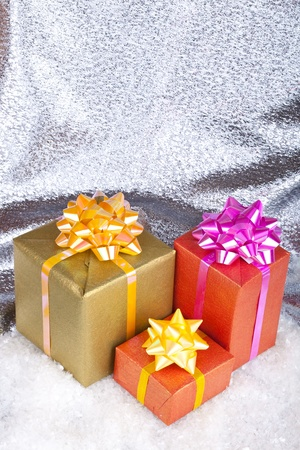 Christmas and New Year. Gift box Stock Photo - 11271427