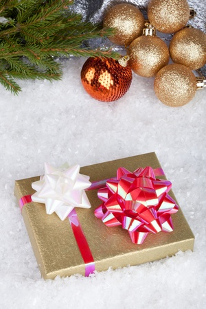 Christmas ball and gift box Stock Photo - 11271392