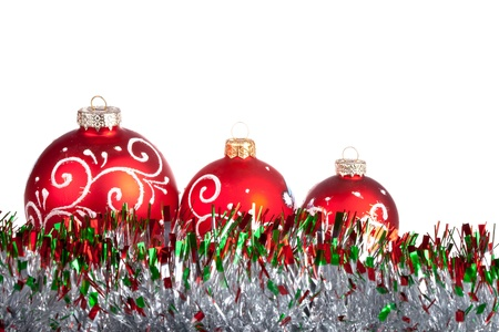 Christmas balls isolated on white Stock Photo - 11499323