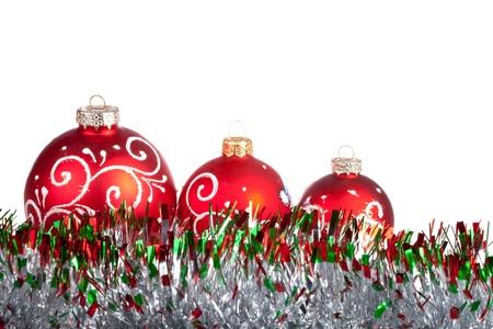 Christmas balls isolated on white Stock Photo - 11499323
