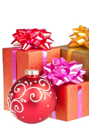 Christmas and New Year. Gift box Stock Photo - 11499327