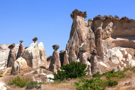 Cappadocia  Fairy Chimneys in Goreme Stock Photo