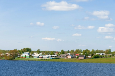 A view of a typical village in the north of the European part of Russia photo