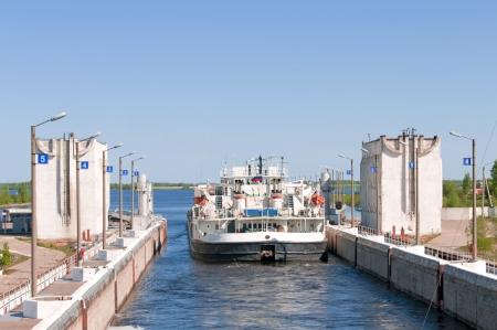 Sluice of the channel Volga-Don Lenin