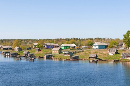 A view of a typical village in the north of the European part of Russia