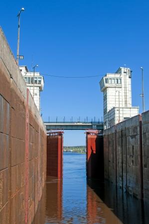 sluice: Sluice of the channel Volga-Don Lenin