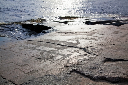 onega: Mysterious petroglyphs of Onega  Made 6000 - 5000 years ago  Editorial