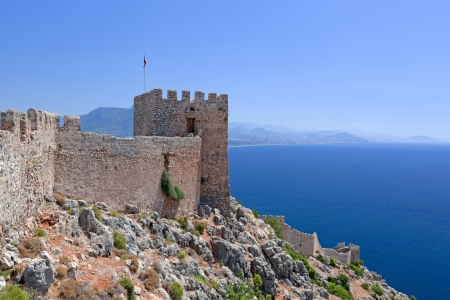 Turkey  Ruins of Ottoman fortress in Alanya Stock Photo