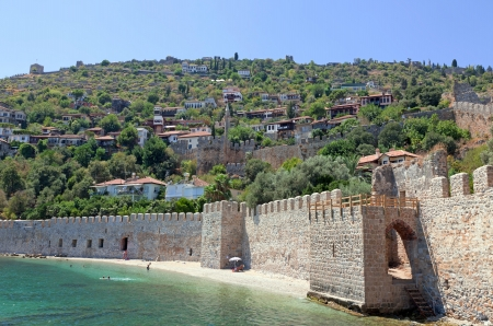 Turkey  Ruins of Ottoman fortress in Alanya Stock Photo - 14123428