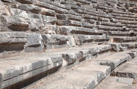 teatro antico: Antico teatro di Aspendos, nel sud della Turchia Archivio Fotografico