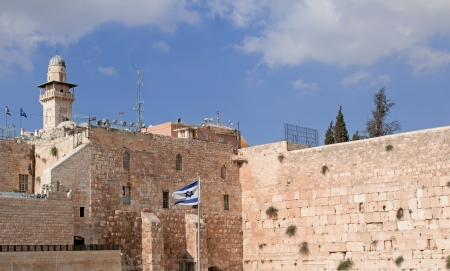The Jerusalem wailing wall photo