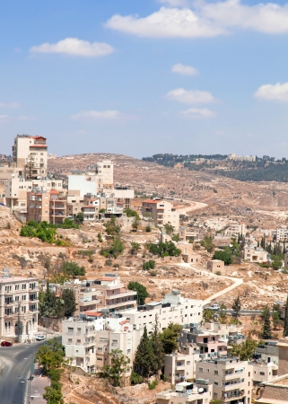Palestin  A panorama of the city of Bethlehem from height Stock Photo - 14253776