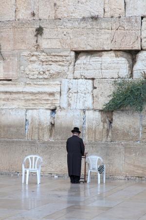 Prayer at the wailing wall, Jerusalem, Israel Stock Photo - 14253798