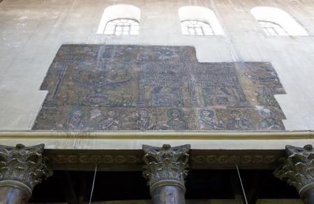Palestin  Interior of Church of the Nativity in Bethlehem