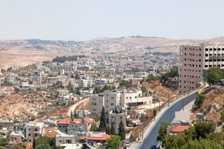 Palestin  A panorama of the city of Bethlehem from height Stock Photo