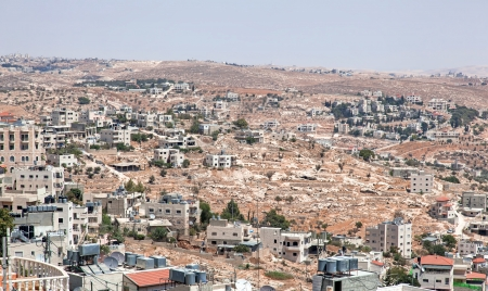 Palestin  A panorama of the city of Bethlehem from height Stock Photo - 14253845
