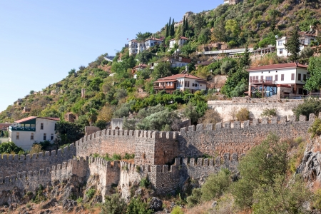 Turkey  Ruins of Ottoman fortress in Alanya Stock Photo - 14410592