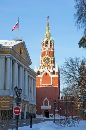 The Saviour  Spasskaya  Tower in Moscow Kremlin, Russia  Stock Photo - 14521038