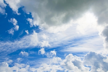 Clear blue sky and clouds Stock Photo - 14526989