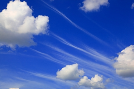 Clear blue sky and clouds Stock Photo - 14526994