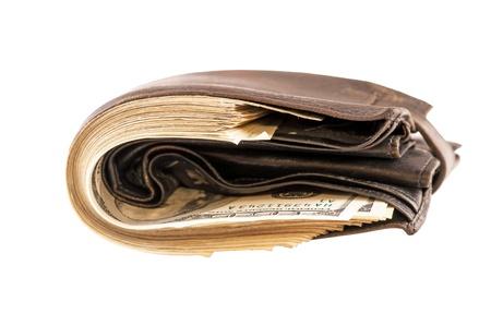 accident rate: En la cartera hay una gran cantidad de dinero Foto de archivo