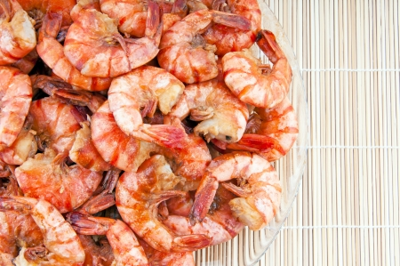 Japanese traditional cuisine  Fried shrimps photo
