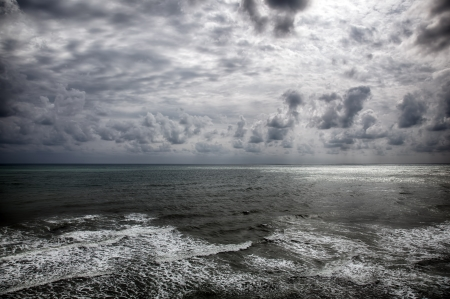 Storm on the sea after a rain  HDR image