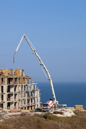 Construction of new elite housing on the sea coast Stock Photo - 16004231